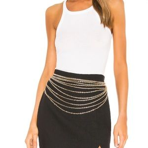 Revolve Gold chain belt
